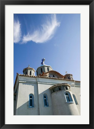 Framed Greece, Aegean Islands, Samos, Agia Triada Church Print