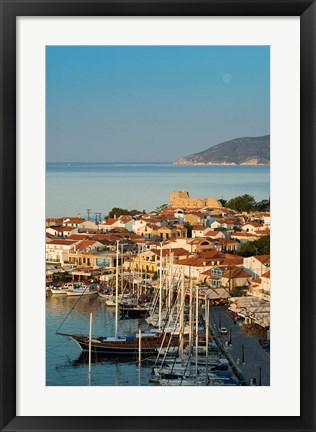 Framed Greece, Aegean Islands, Samos, Pythagorio: Harbor Print