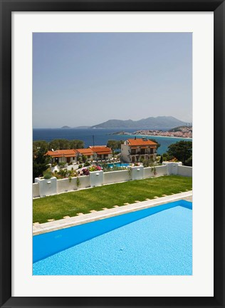 Framed Greece, Aegean Islands, Samos, Resort Pool Print