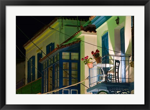 Framed Greece, Aegean Islands, Samos, Waterfront home Print