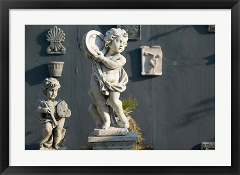 Framed Greece, Ionian Islands, Kefalonia, Cherub Statue Print