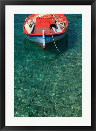 Framed Greece, Ionian Islands, Kefalonia, Fishing Boat Print