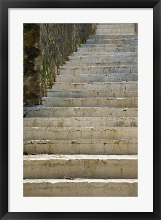 Framed Greece, Ionian Islands, Kefalonia, Stairs Print