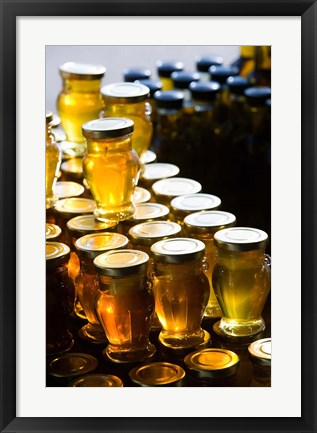 Framed Greece, Ionian Islands, Zakynthos, Market Honey Print