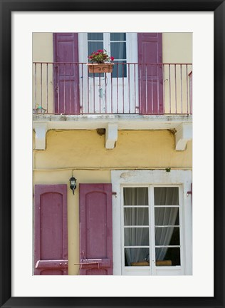 Framed House Detail, Yacht Harbor, Fiskardo, Kefalonia, Ionian Islands, Greece Print