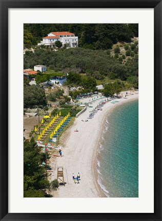 Framed Tsamadou Beach, Kokkari, Samos, Aegean Islands, Greece Print