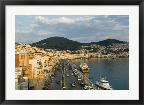 Framed View Along Themistokleous Sofuli Street, Vathy, Samos, Aegean Islands, Greece Print
