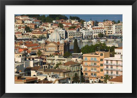 Framed Viewed from Western Hills, Lesvos, Mithymna, Northeastern Aegean Islands, Greece Print