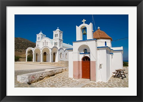 Framed Church in Small Town of Dryos, Paros, Greece Print