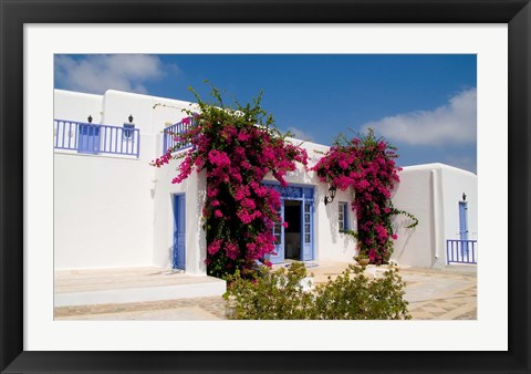Framed Greek Architecture, Mykonos, Greece Print