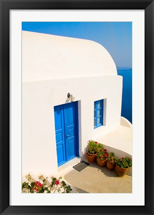 Framed White House, Oia, Santorini, Greece Print