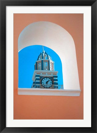 Framed Scenic view of Thira, Santorini, Greece Print