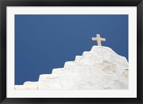 Framed Typical Whitewashed Architecture, Mykonos, Greece Print