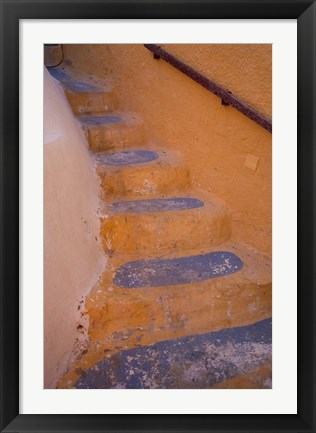Framed Stairways Leading Up, Oia, Santorini, Greece Print