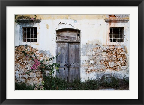 Framed Old Doorway, Chania, Crete, Greece Print