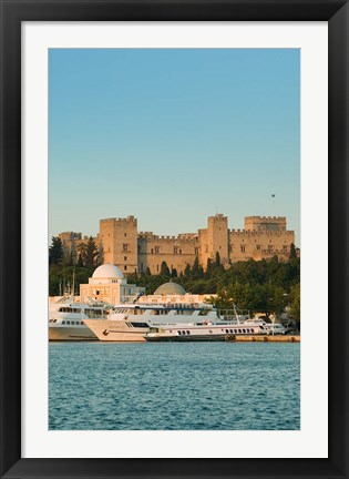 Framed Greece, Dodecanese, Palace of the Grand Masters Print