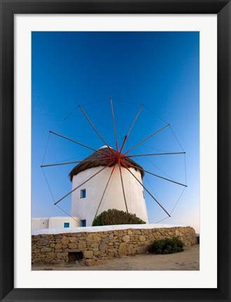 Framed Greece, Mykonos, Hora, Windmills Print