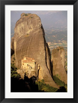 Framed Roussanou Monastery, Meteora, Thessaly, Greece Print