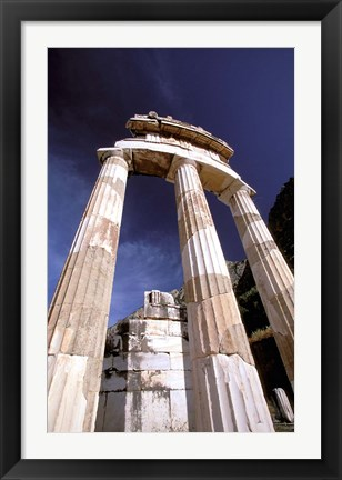 Framed Temple of Athena, Tholos Rotunda, Delphi, Fokida, Greece Print