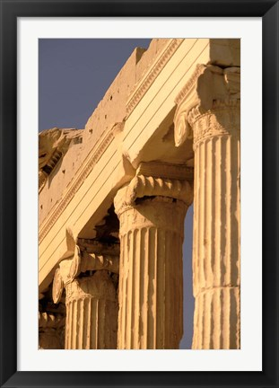 Framed Column Detail, The Acropolis, Attica, Athens, Greece Print
