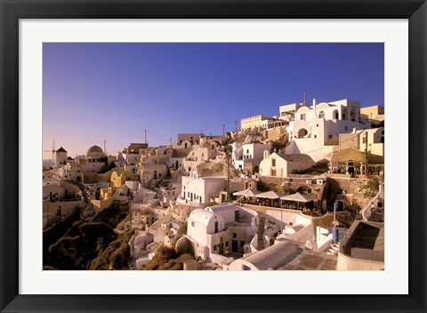 Framed Old Town in Late Afternoon, Santorini, Cyclades Islands, Greece Print