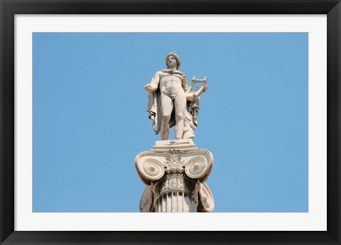 Framed Greek Mythology, Apollo Statue at Athens Academy, Greece Print