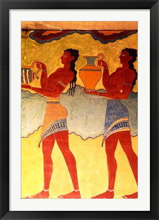 Framed Artwork in Heraklion Knossos Palace, Greece Print