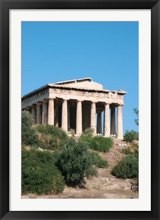 Framed Temple of Hephaestus, Ancient Architecture, Athens, Greece Print