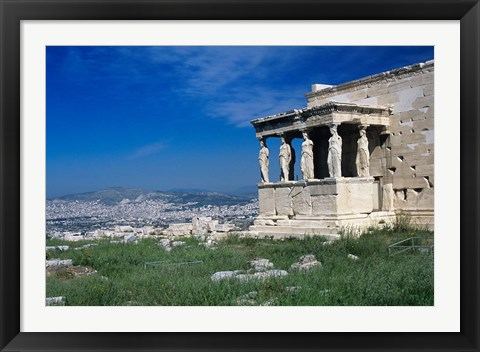 Framed Porch of The Caryatids, Acropolis of Athens, Greece Print