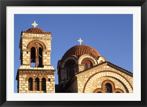 Framed St Nicholas Greek Orthodox Church, Delphi, Greece Print