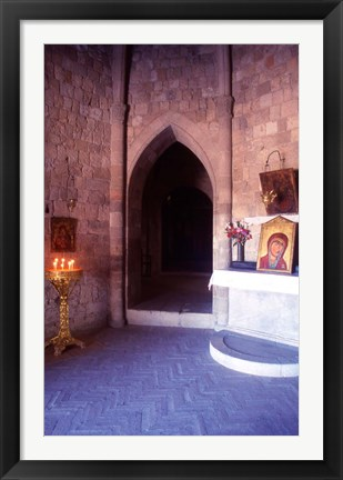 Framed Inside Our Lady of Filerimos Church, Rhodes, Dodecanese Islands, Greece Print
