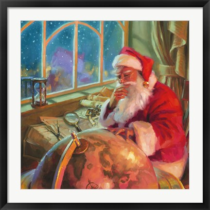 Framed Santa World Traveler Print
