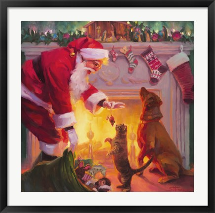 Framed Santa Something For Everyone Print