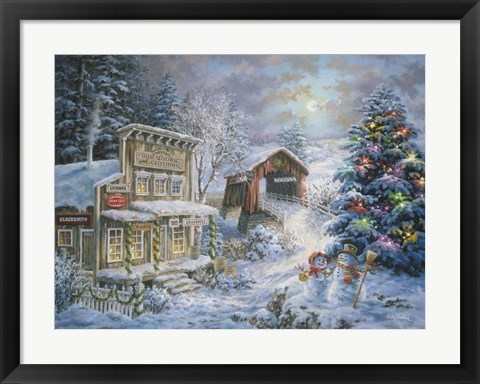 Framed Country Shopping Print
