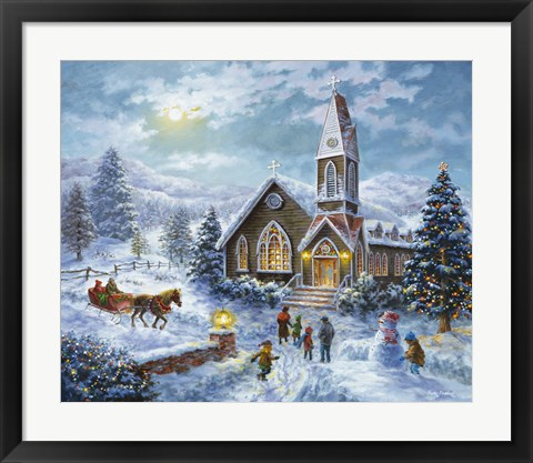 Framed Parents Pray, Children Play Print