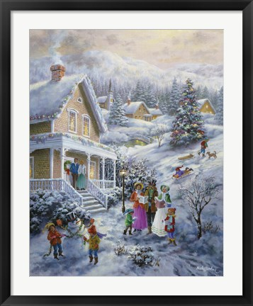 Framed Carolers Print