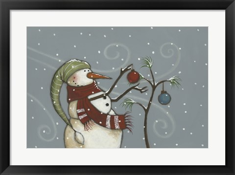 Framed Ornaments on the Tree Print