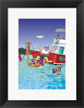 Framed Divers Print