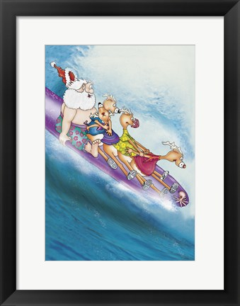 Framed Wave Riders Print