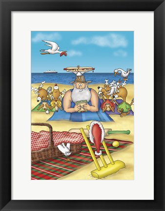 Framed Beach Picnic Print