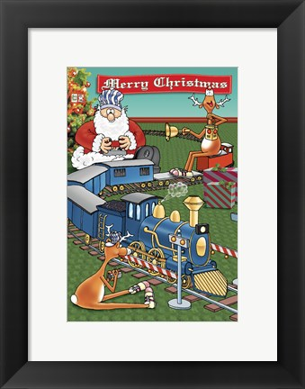 Framed Train Set Print