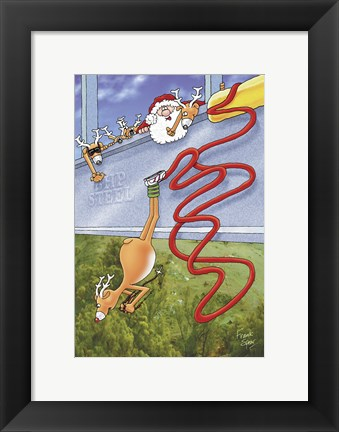 Framed Bungee Jumping Print