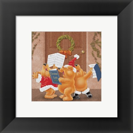 Framed Christmas Carolers Print