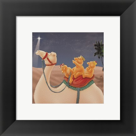 Framed Three Wise Teddies Print