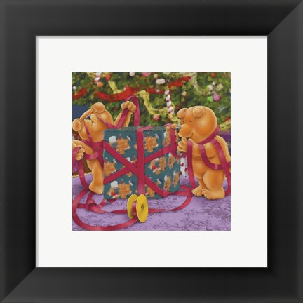 Framed Gift Wrapping Print