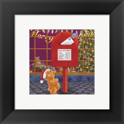Framed Christmas Mail Print
