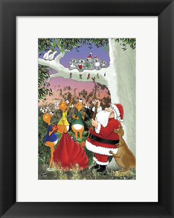 Framed Santa At Work Print