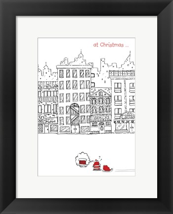Framed Santa In The City Print
