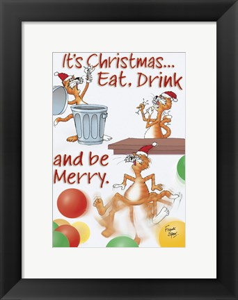 Framed Eat, Drink & Be Merry Print