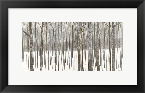 Framed Woods in Winter Print